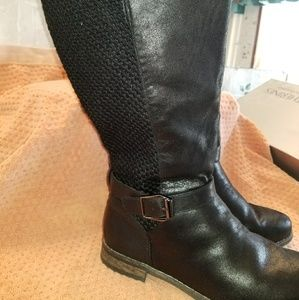 Torrid sweater back knee high boots